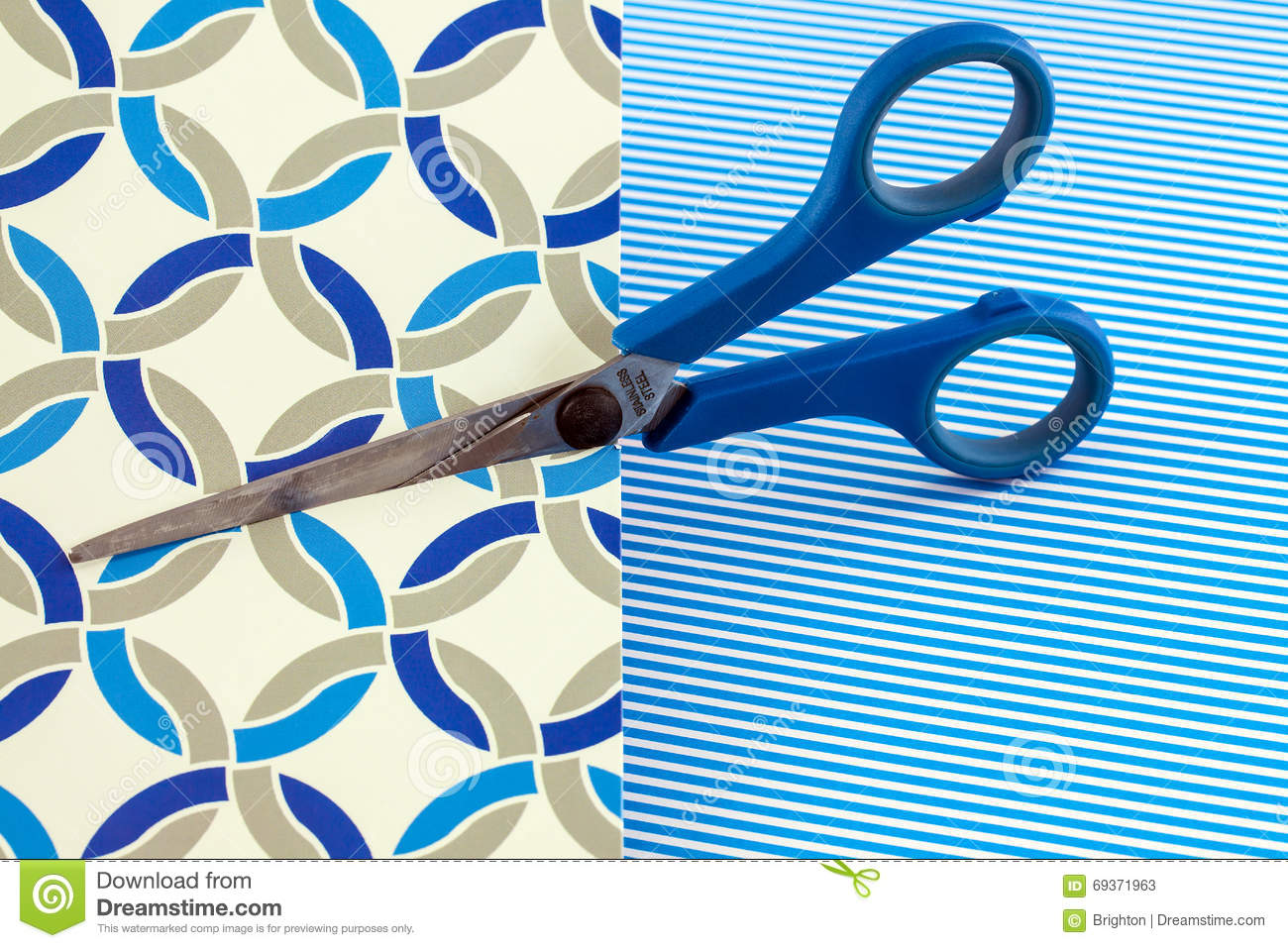 Card and scissors stock photo image 69371963 for Craft paper card stock