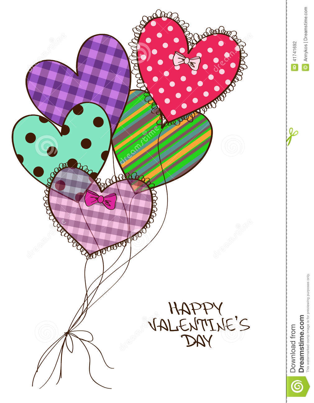 Card with scrap booking heart air balloons