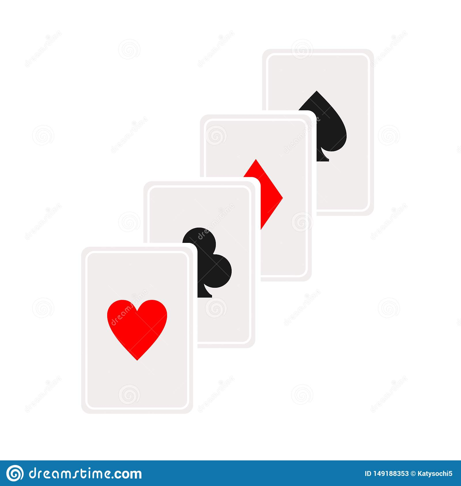 Cascade card icon. Playing card symbol, logo illustration. Vector isolate on white background.Casino sign. Gambling