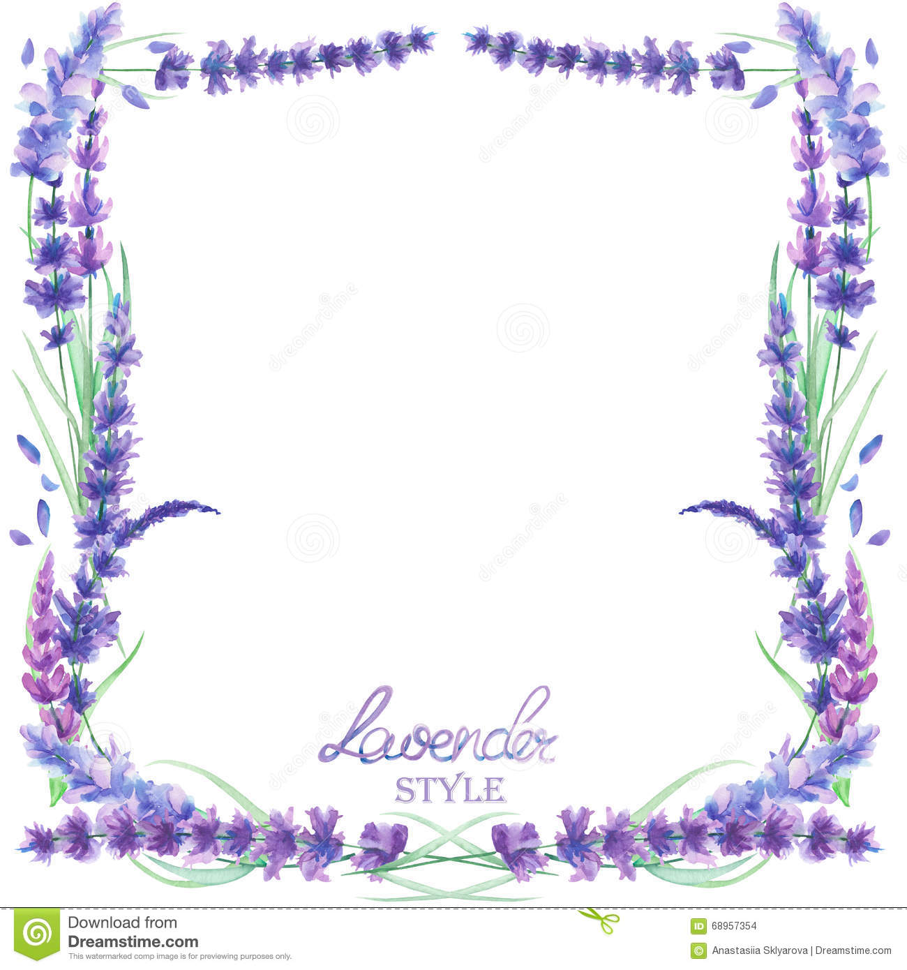 card template frame border watercolor lavender flowers wedding invitation text hand drawn white background 68957354 a card template, frame border with the watercolor lavender flowers,Lavender Wedding Invitation Templates