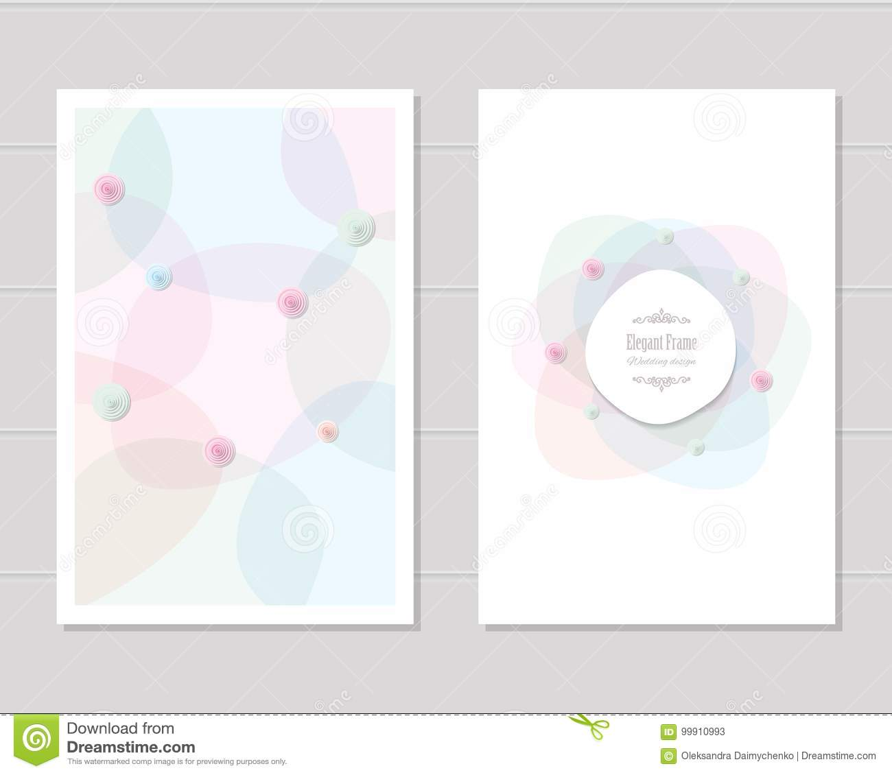Card Templates Wedding Invitation Brochure Cover Design