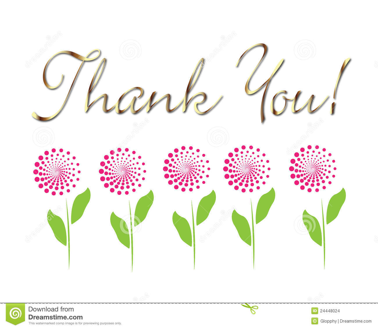 Card thank you! vector stock vector. Image of drawing ...