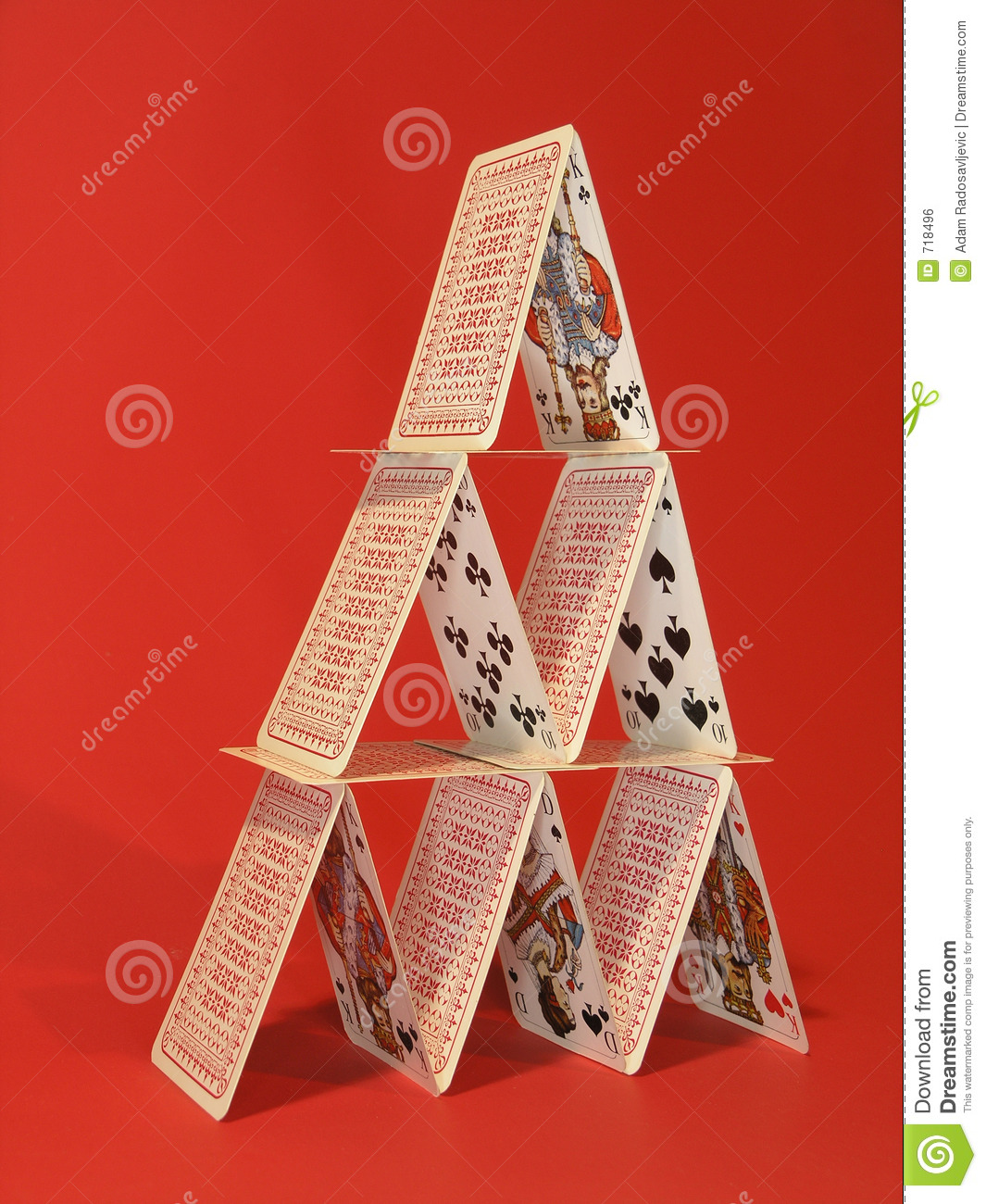 Card Tower Stock Photo. Image Of King, Cards, Fiftteen