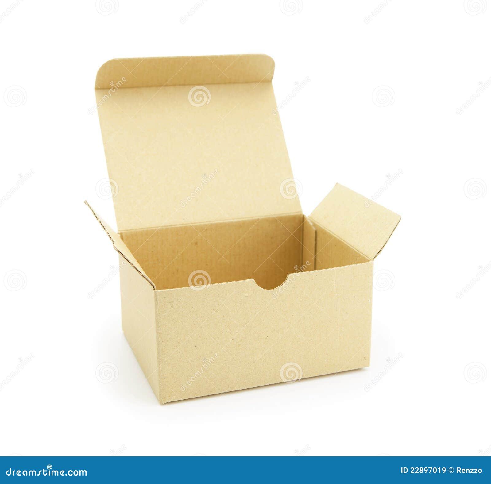 cardboard box with flip open lid stock image image 22897019. Black Bedroom Furniture Sets. Home Design Ideas