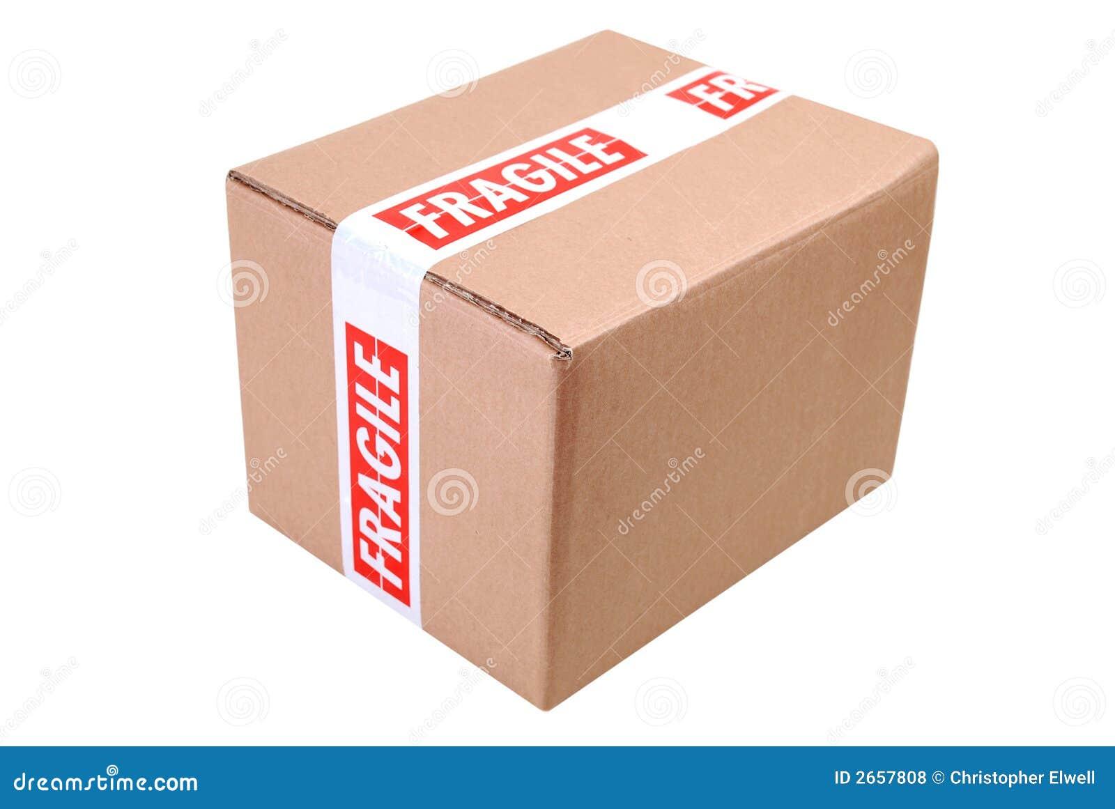cardboard box and fragile tape stock photo image of despatch moving 2657808. Black Bedroom Furniture Sets. Home Design Ideas