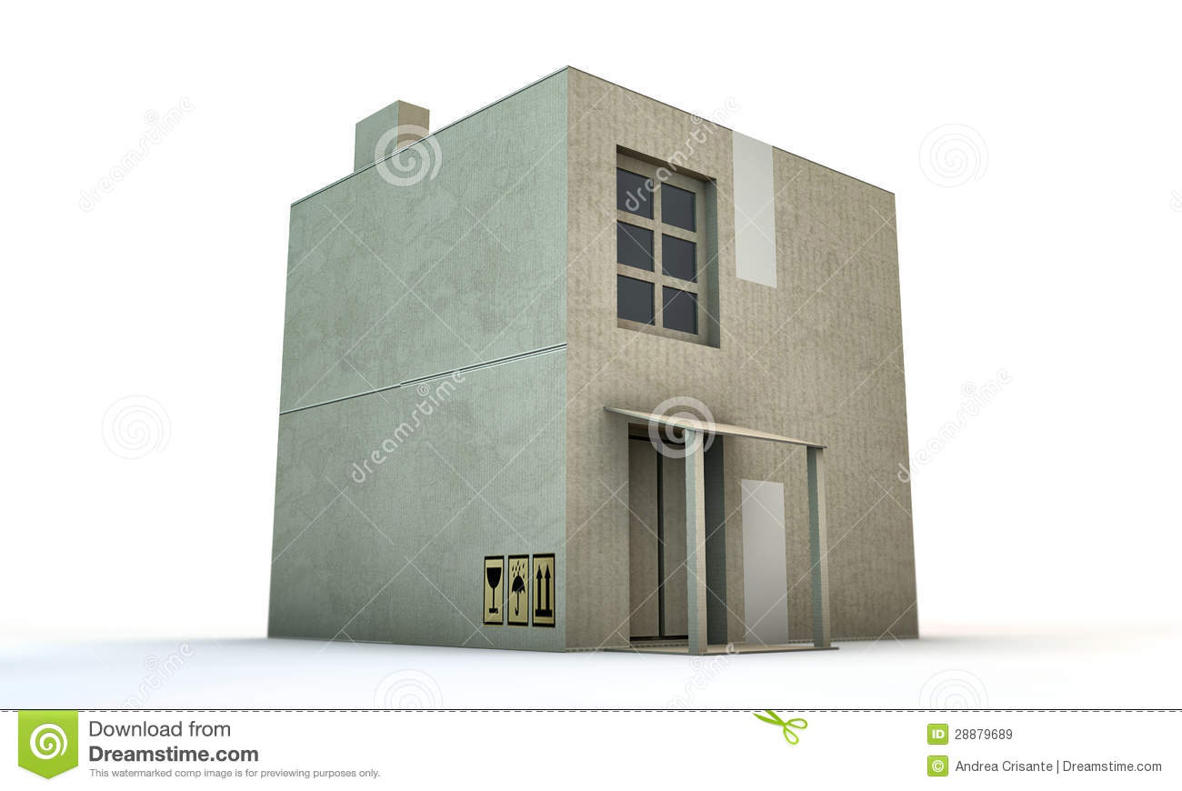 Cardboard box house stock illustration image of house for House in a box