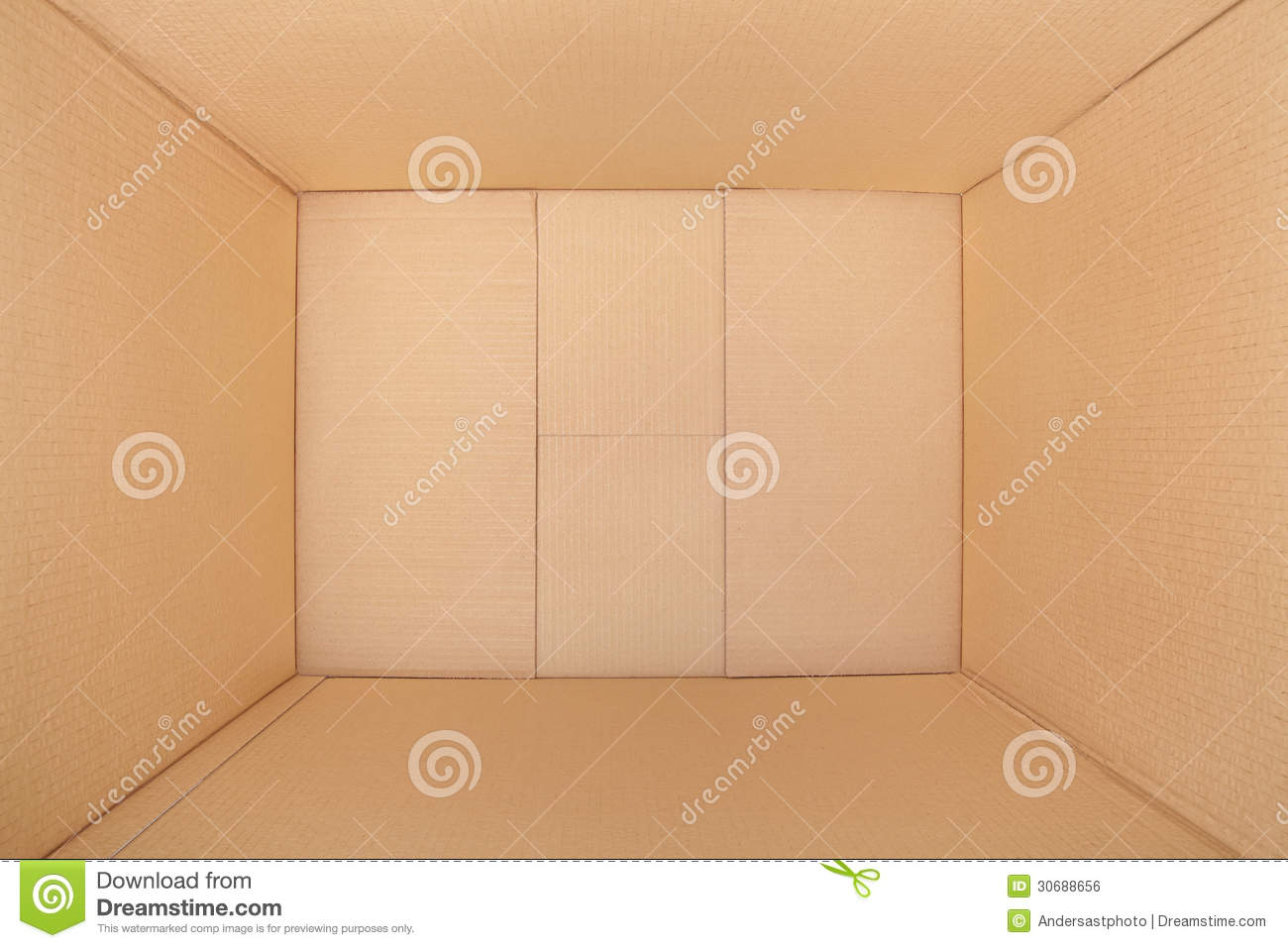 Cardboard Box Inside View Stock Photo Image Of Case