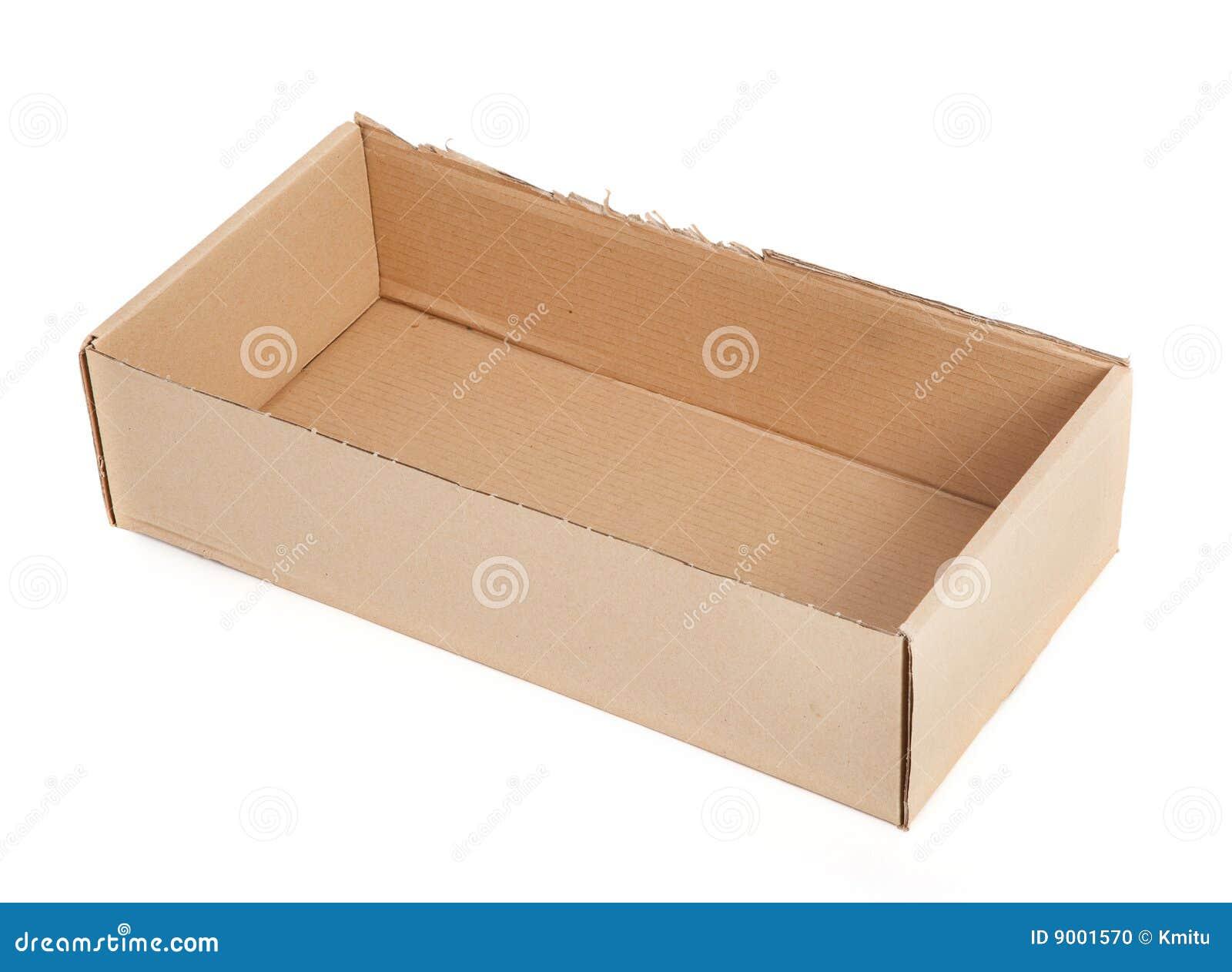 cardboard box without a lid stock photo image of shot parcel 9001570. Black Bedroom Furniture Sets. Home Design Ideas