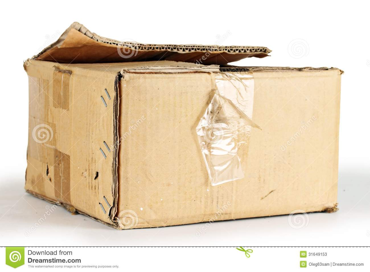 Cardboard box stock image image of open object for What to do with old mailbox