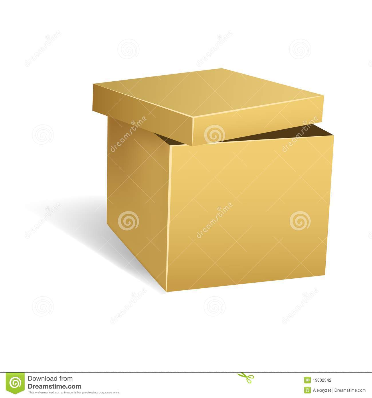 Cardboard Box With Opened Lid Stock Photography - Image: 19002342