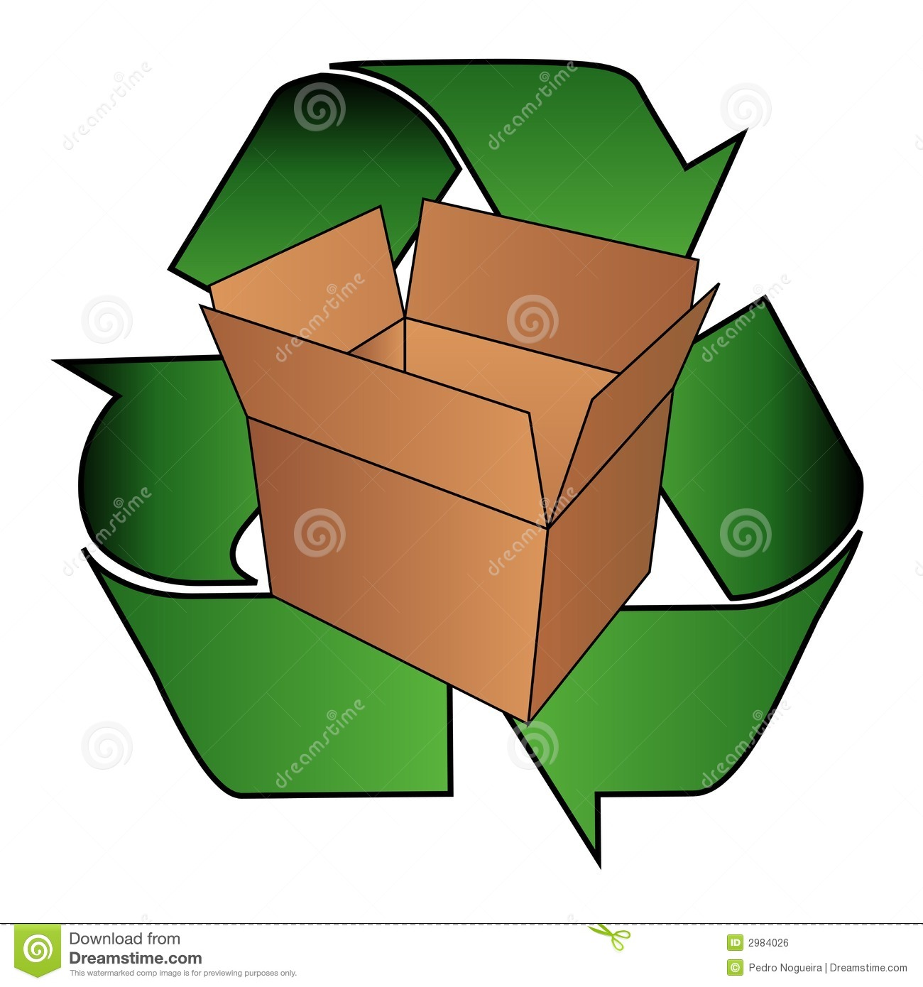 Royalty Free Stock Image Cardboard Box Recycle Symbol Image2984026 on Green Environmental Clip Art