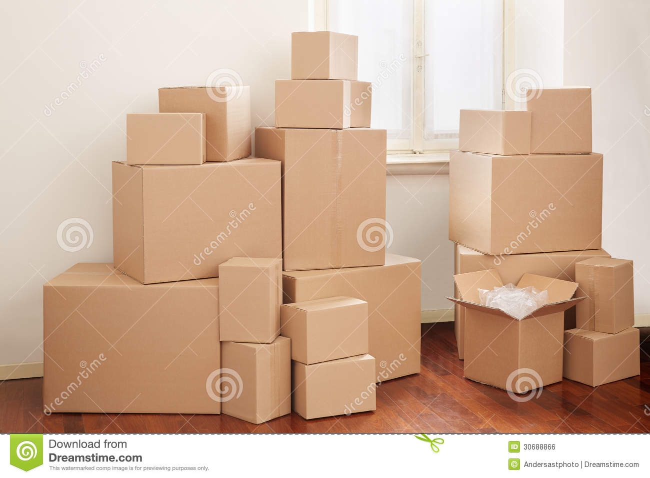 Coupon moving day boxes