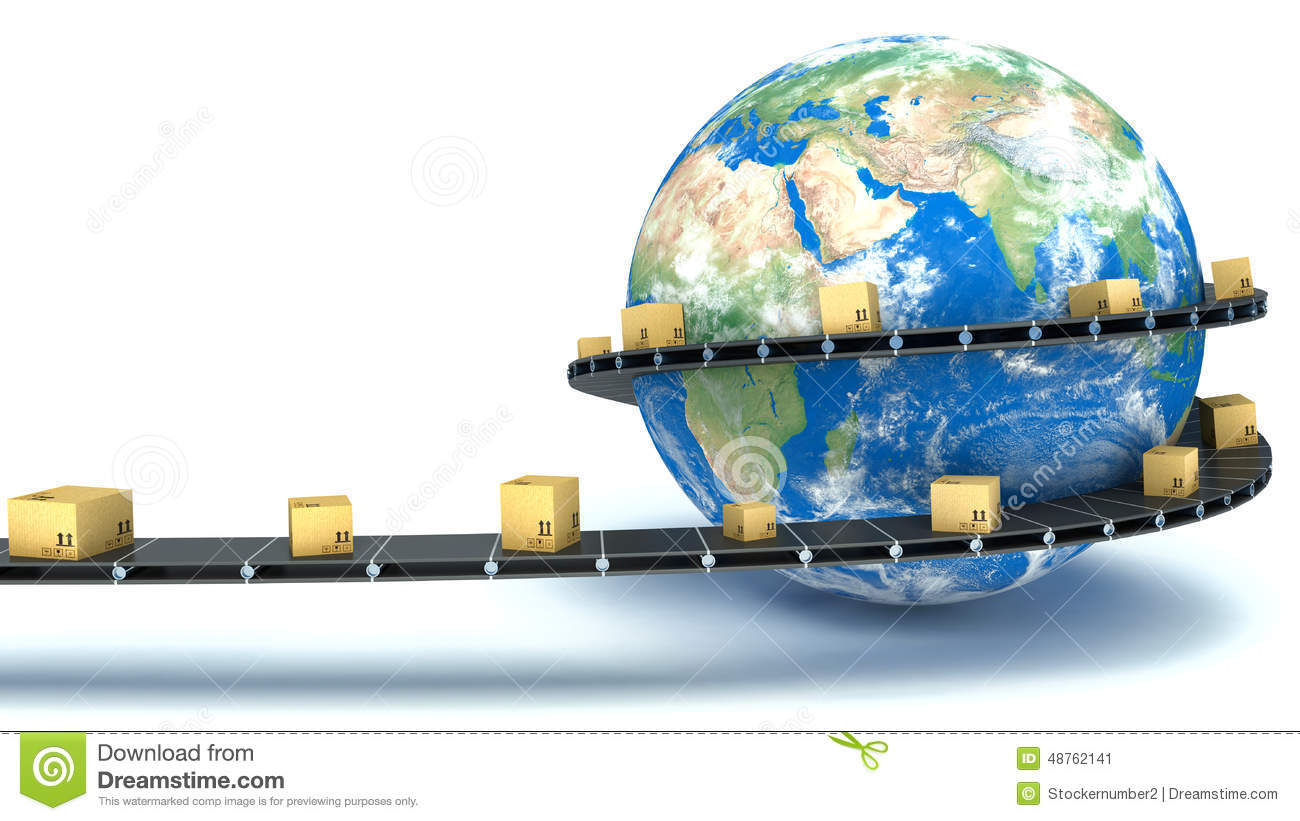Cardboard Boxes Are Delivered All Over The World On The