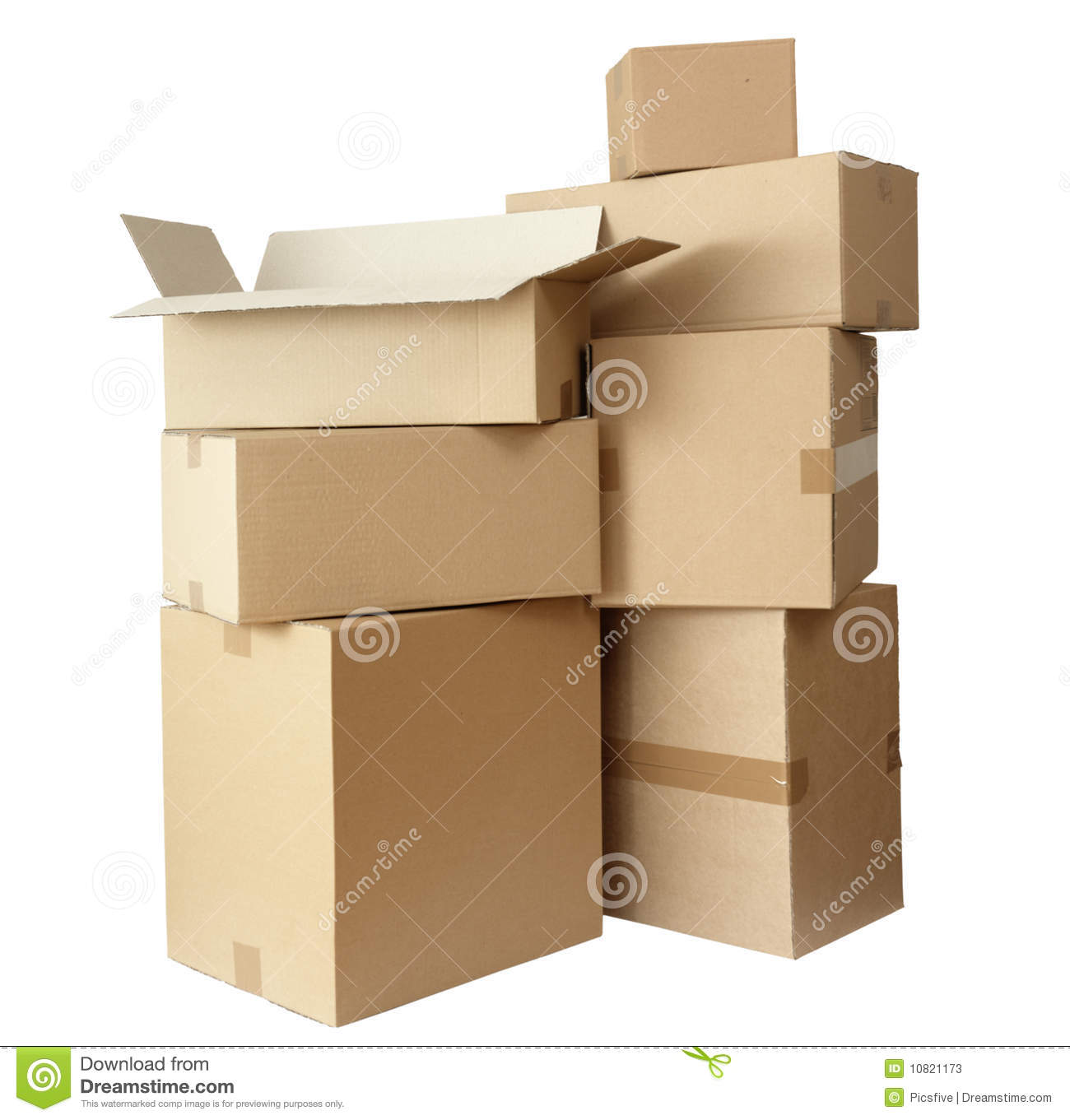 Cardboard Boxes Stack Package Stock Photos Image 10821173