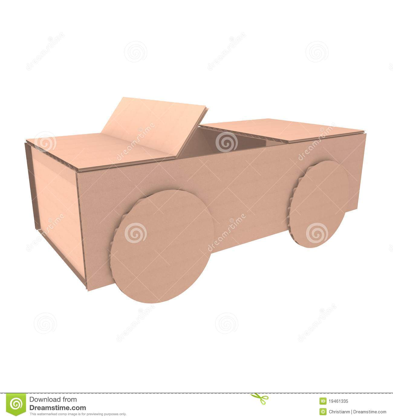 cardboard car stock illustration image of moving market