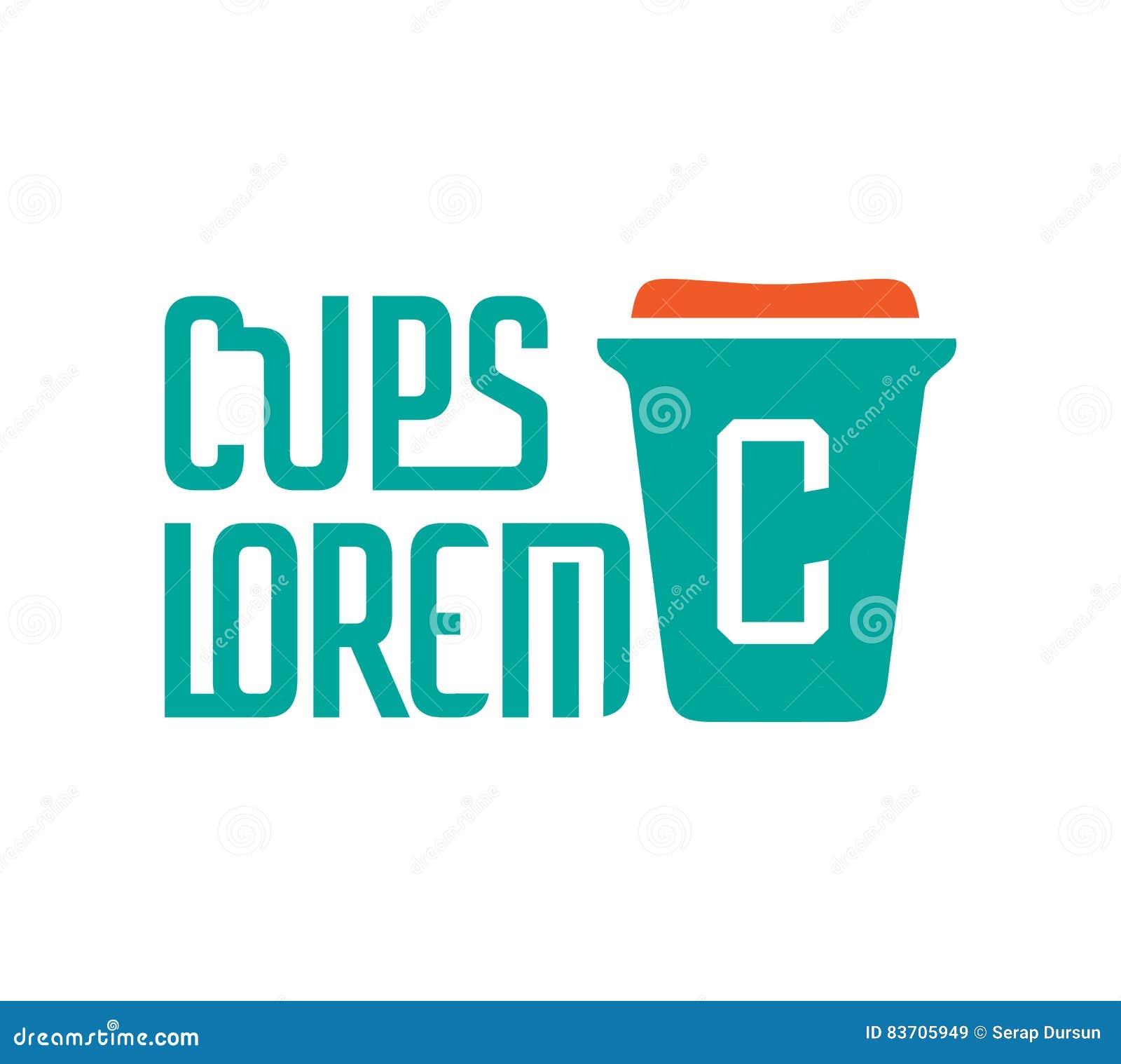 Cardboard Coffe Cup Logo Stock Illustration