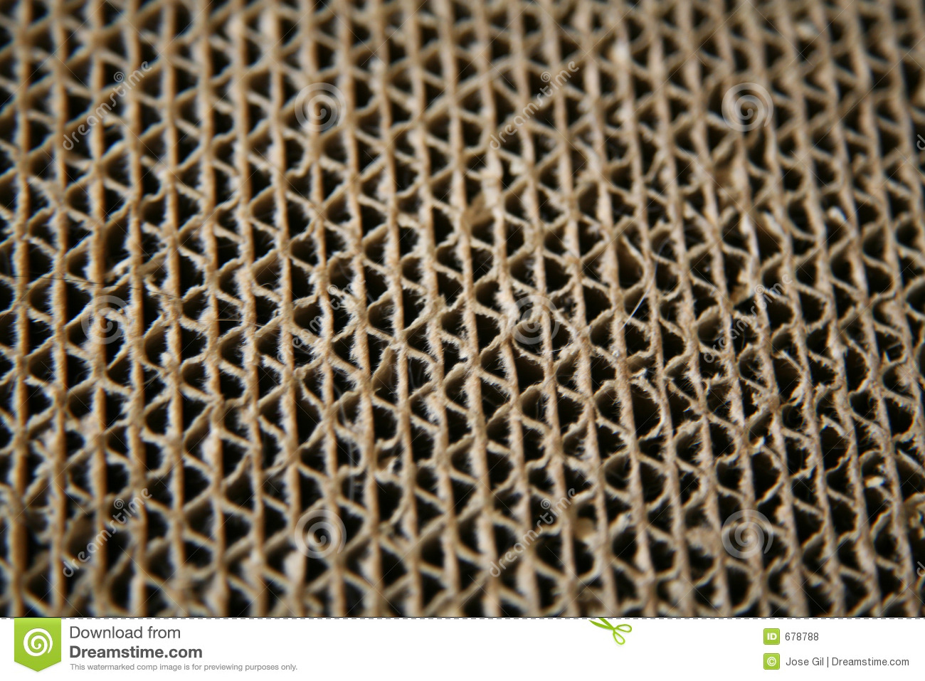 Cardboard Edges Close Up Royalty Free Stock Photos Image