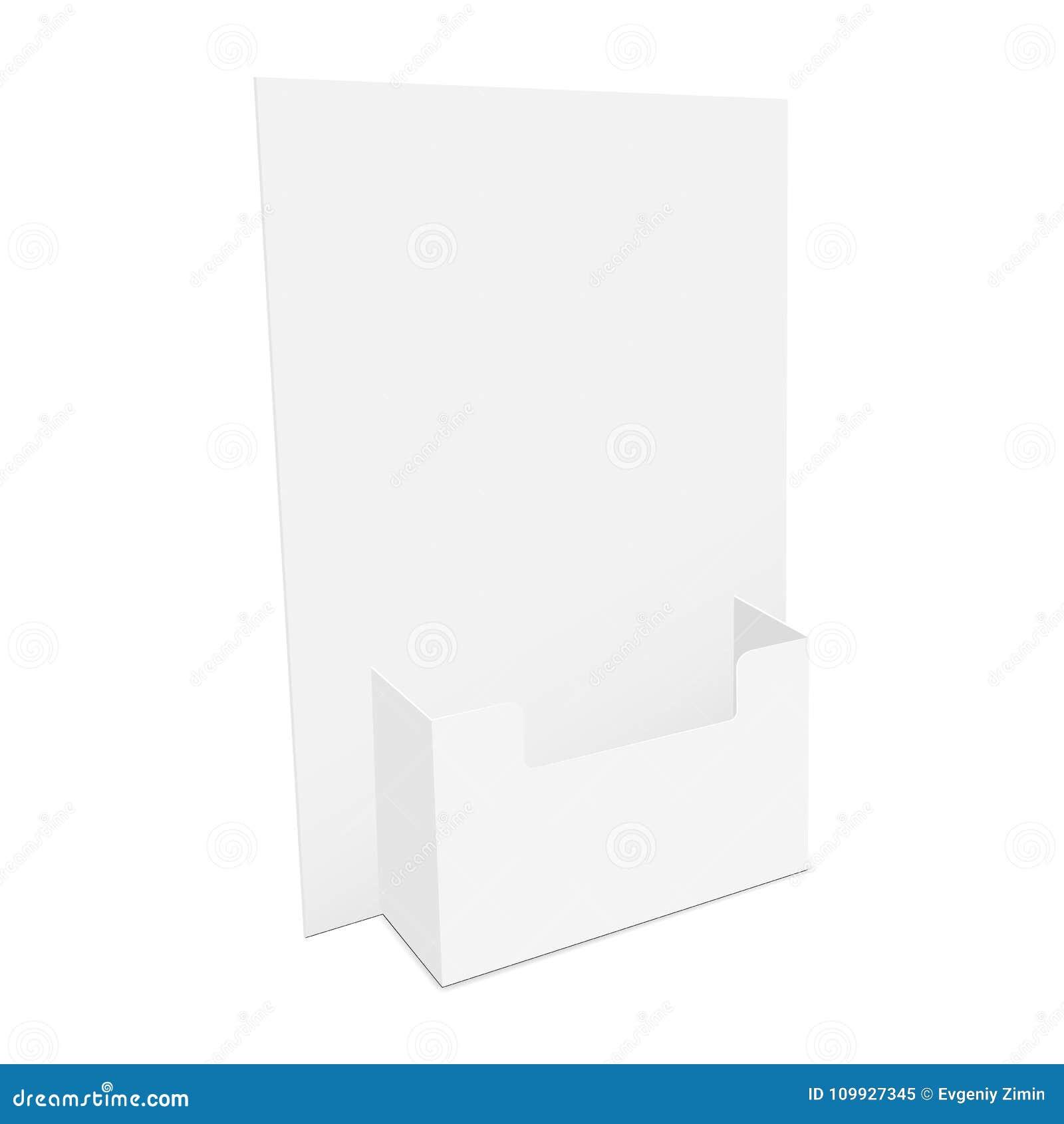 Cardboard flyer dispenser stock vector. Illustration of mockup ...