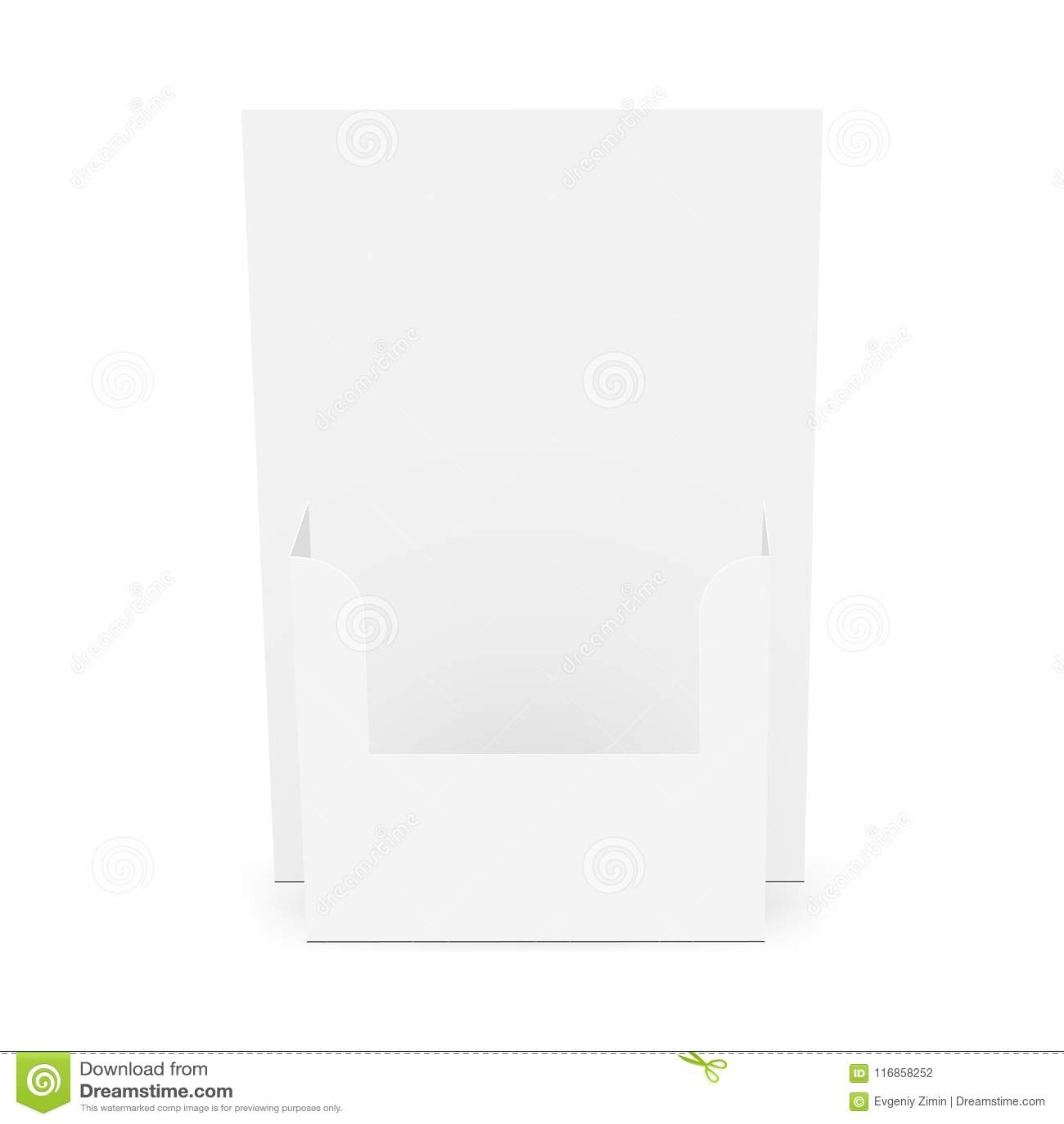 Cardboard Flyer Dispenser Front View Stock Vector Illustration