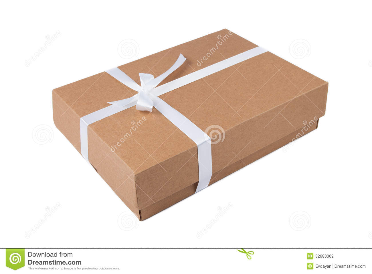 Gift Package Cardboard Box With Ribbon Stock Vector - Image: 42129627