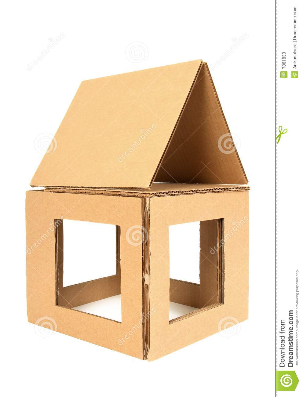 Stock Photo Cardboard House Image7861830 on Old English Cottage Plans