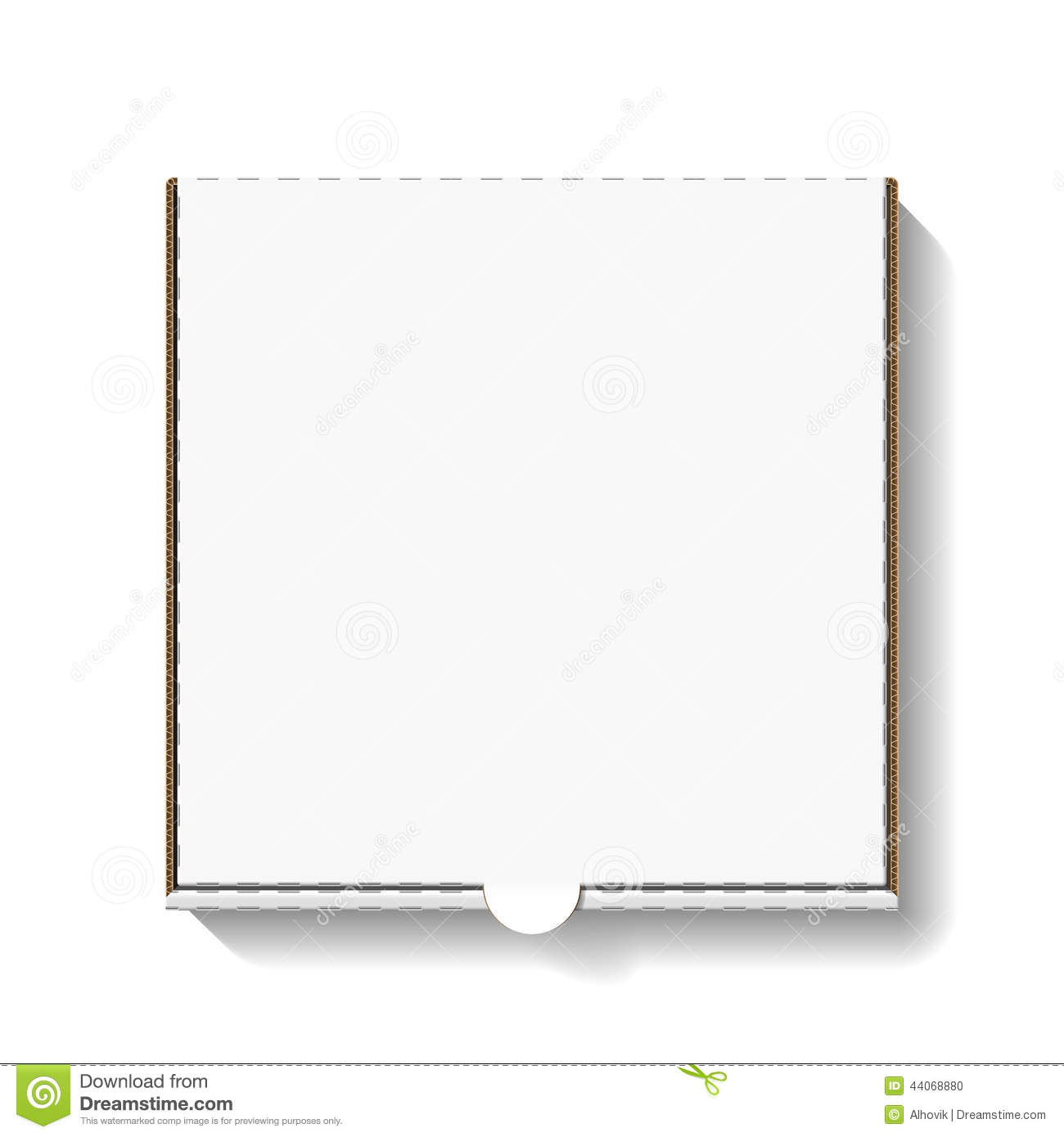 Line Art Box Design : Cardboard pizza box stock vector image of blank