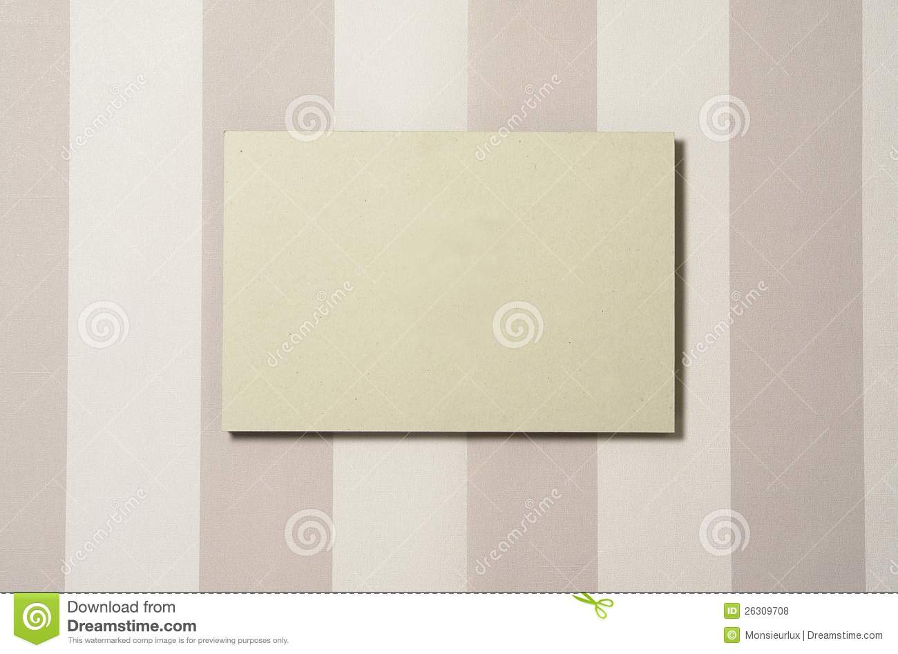 Cardboard Rectangle On Wallpaper 03 Royalty Free Stock ...
