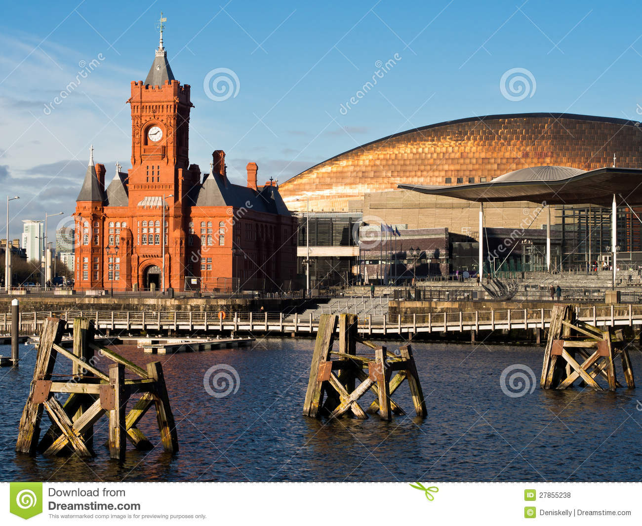 Download Cardiff Bay in Wales stock photo. Image of public, landmark - 27855238