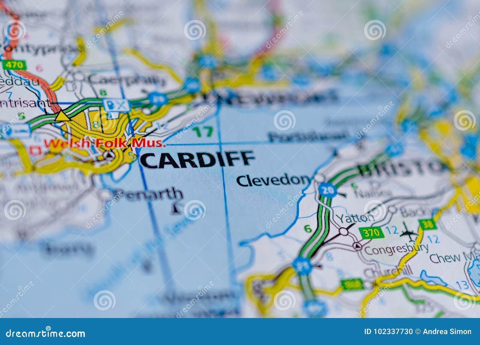 Cardiff en mapa