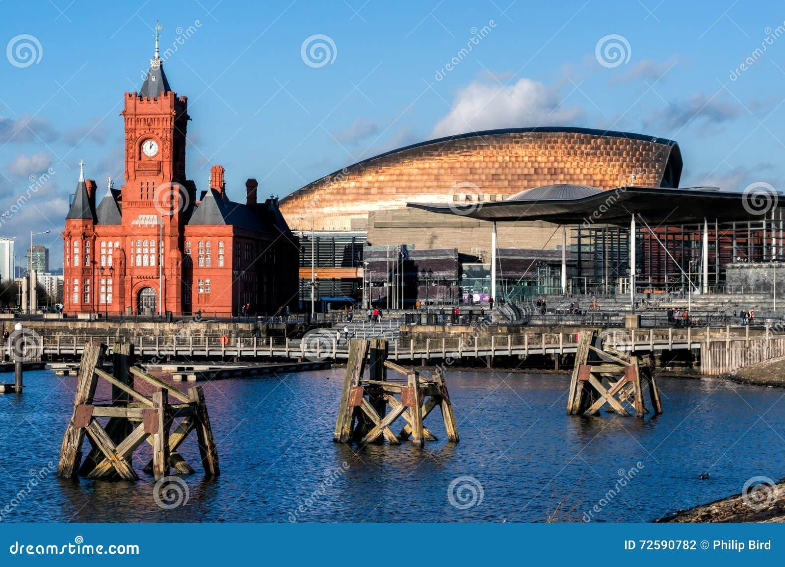 CARDIFF WALIA GRUDZIEŃ 2013 - Pierhead i milenium Centre buil