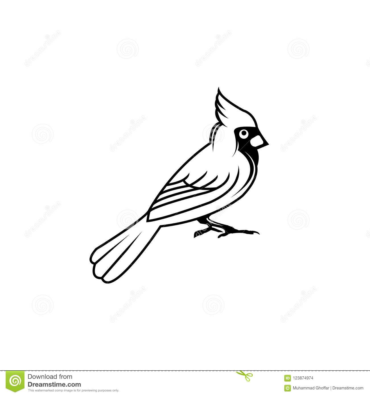 Cardinal Flying Silhouette Outline Wiring Diagrams Tda5140a Brushless Dc Motor Circuit And Datasheet Bird Vector Illustration Black Flat Style Stock Rh Dreamstime Com Egret