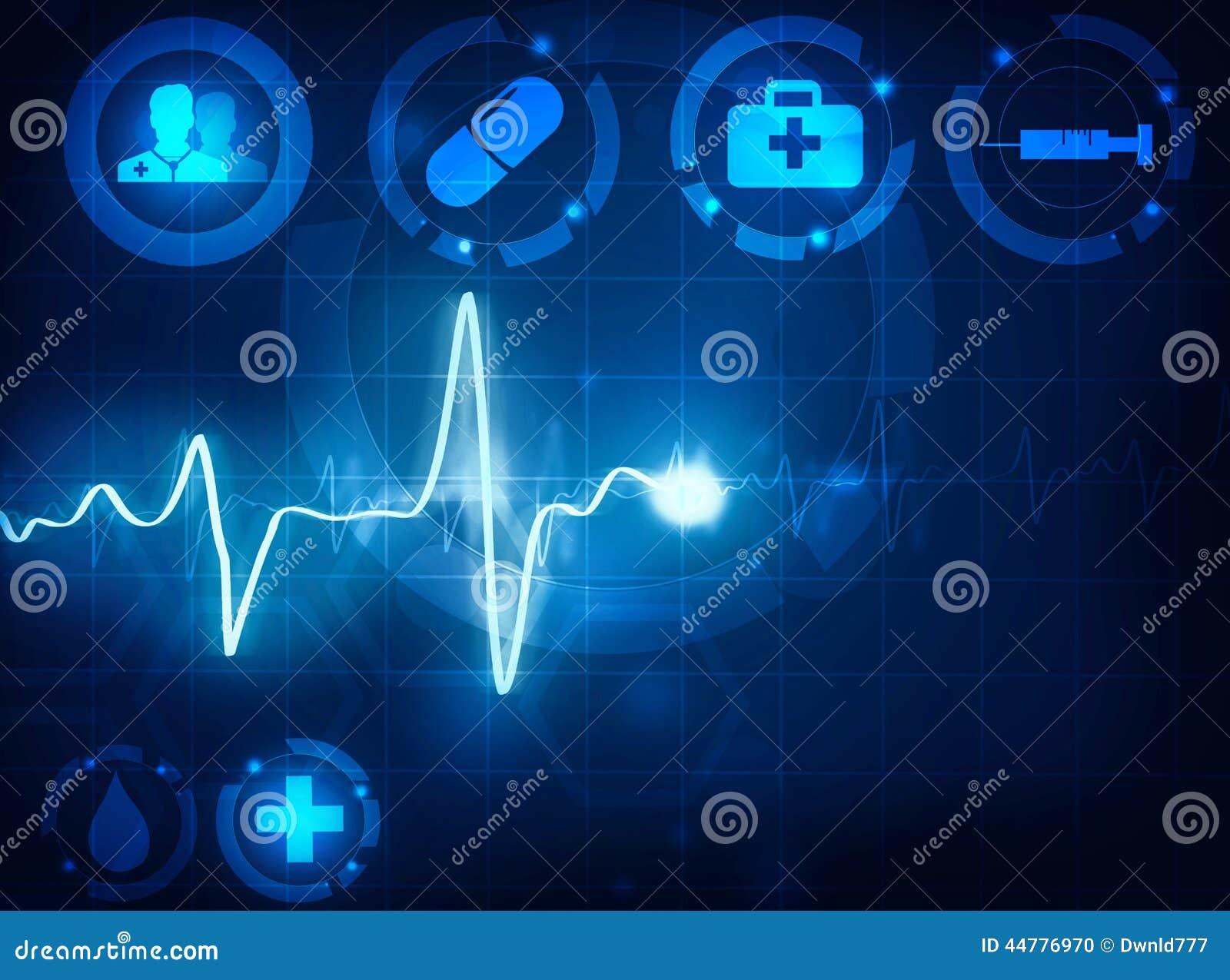 Cardiogram Wave Medical Background Stock Illustration