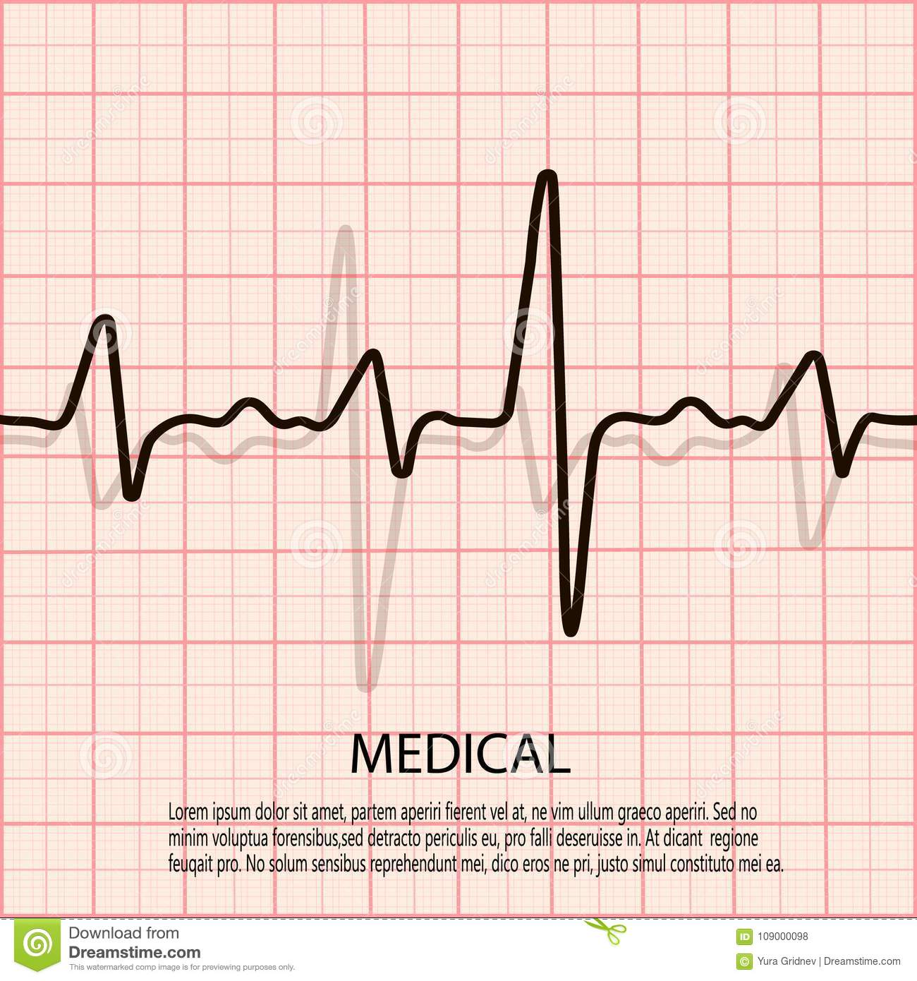 Cardiology Concept With Pulse Rate Diagram  Medical Background With Heart Cardiogram  Stock