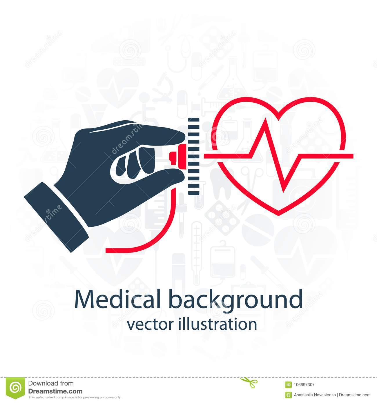 Cardiology Concept Vector Stock Vector Illustration Of Icon 106697307