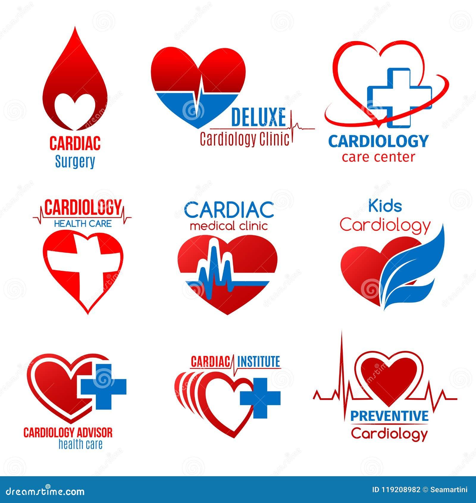 Cardiology Medicine And Cardiac Surgery Symbol Stock Vector Illustration Of Diagnosis Health 119208982