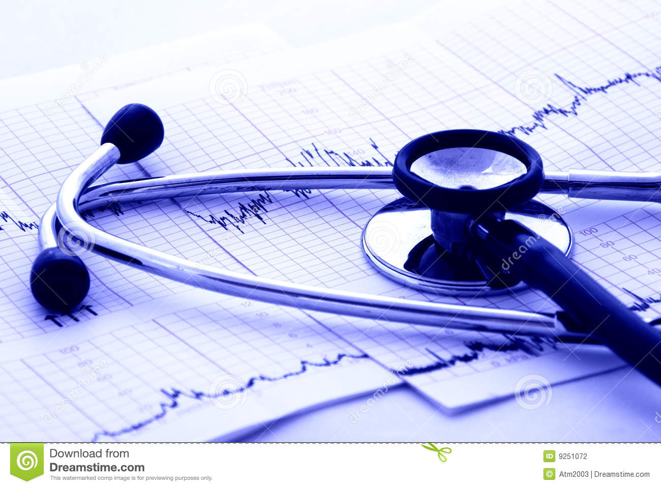 Cardiology Test And Stethoscope Stock Photography - Image: 9251072
