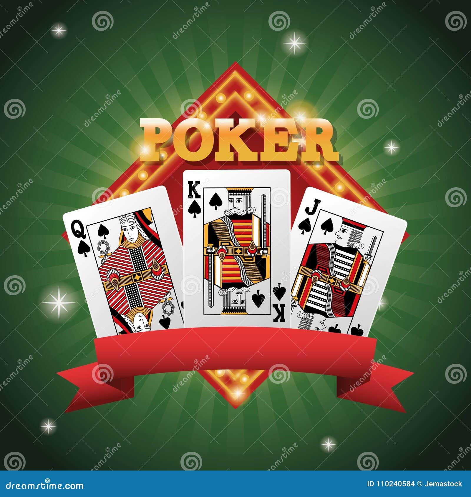 Cards Of Poker Inside Frame Design Stock Vector - Illustration of ...