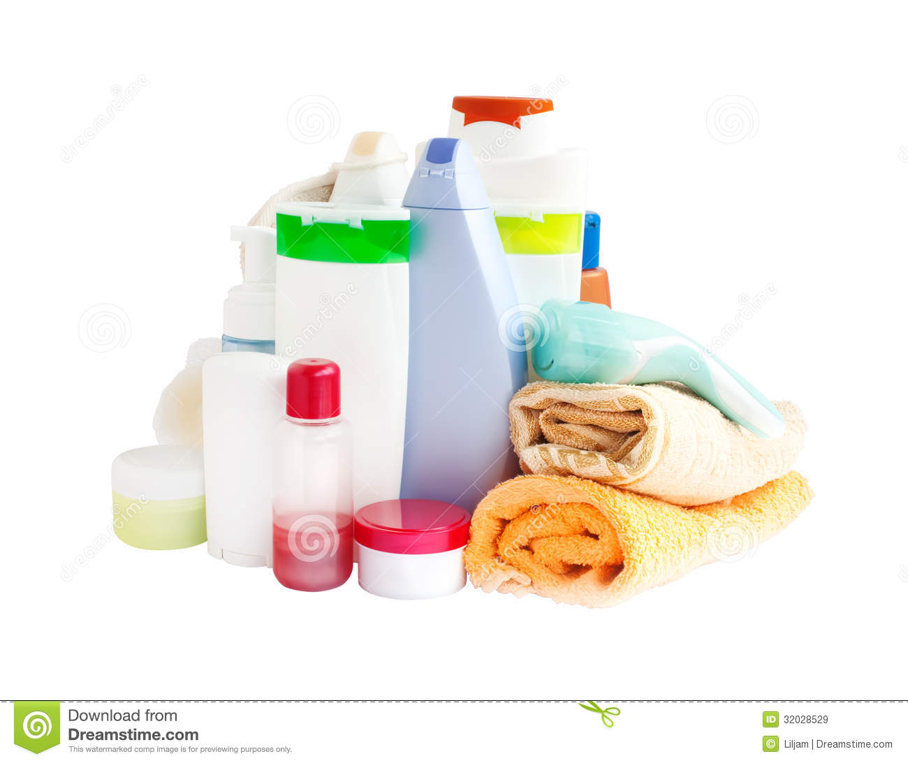 Care And Bathroom Products Royalty Free Stock Images - Image: 32028529