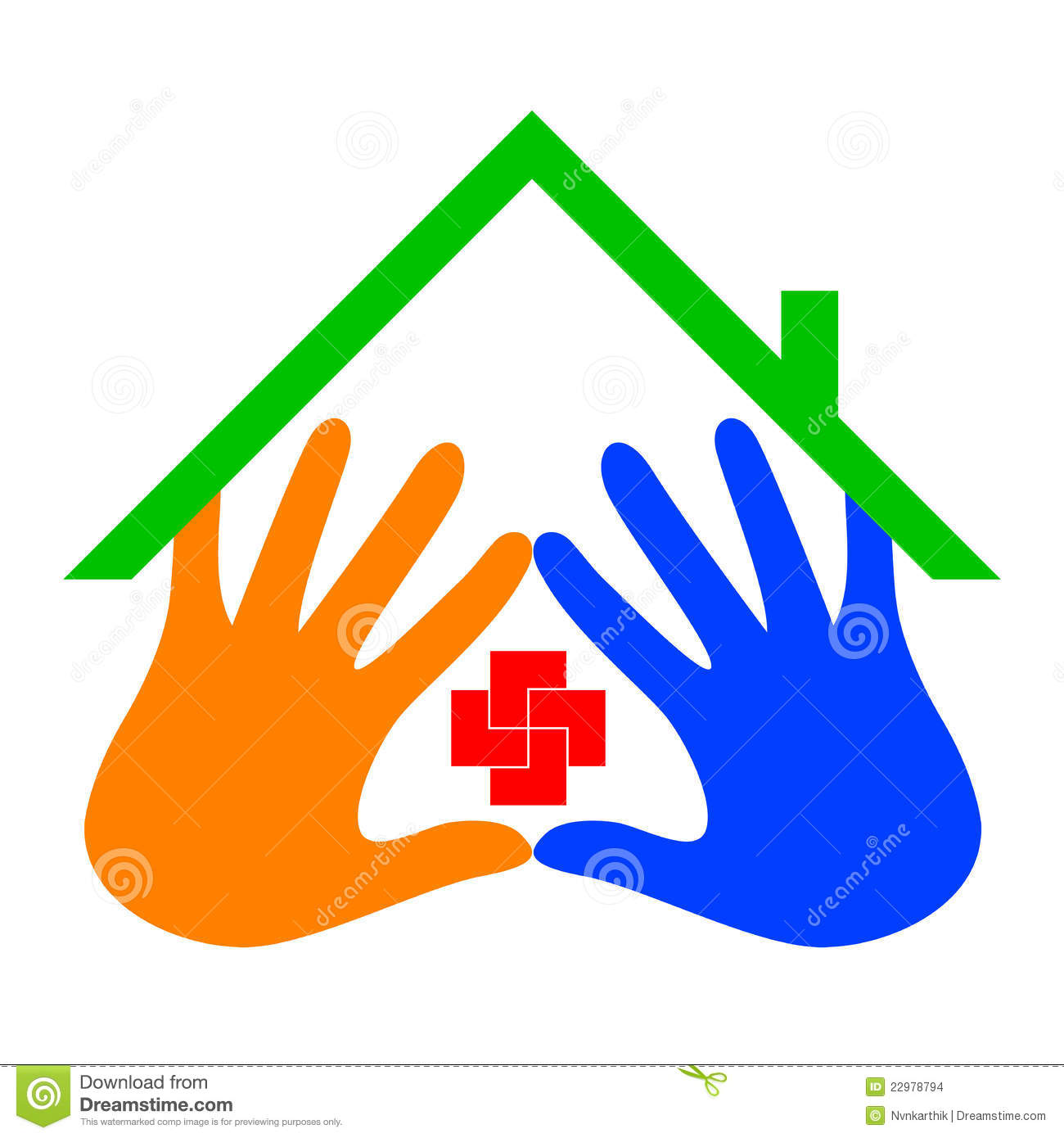 Care home logo stock images image 22978794 - Home health care logo design ...