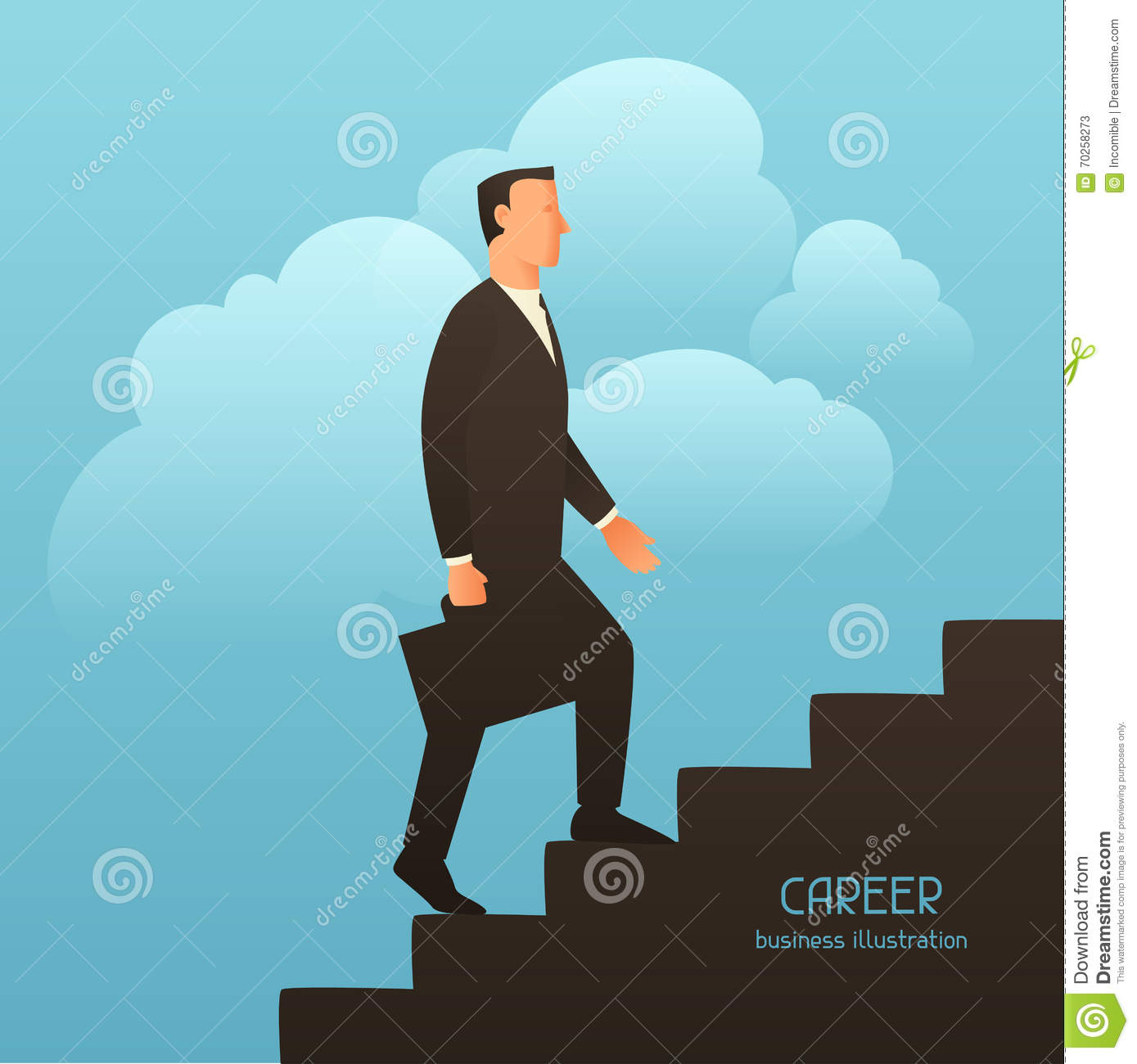 career business conceptual illustration businessman going career business conceptual illustration businessman going upstairs image for web sites articles
