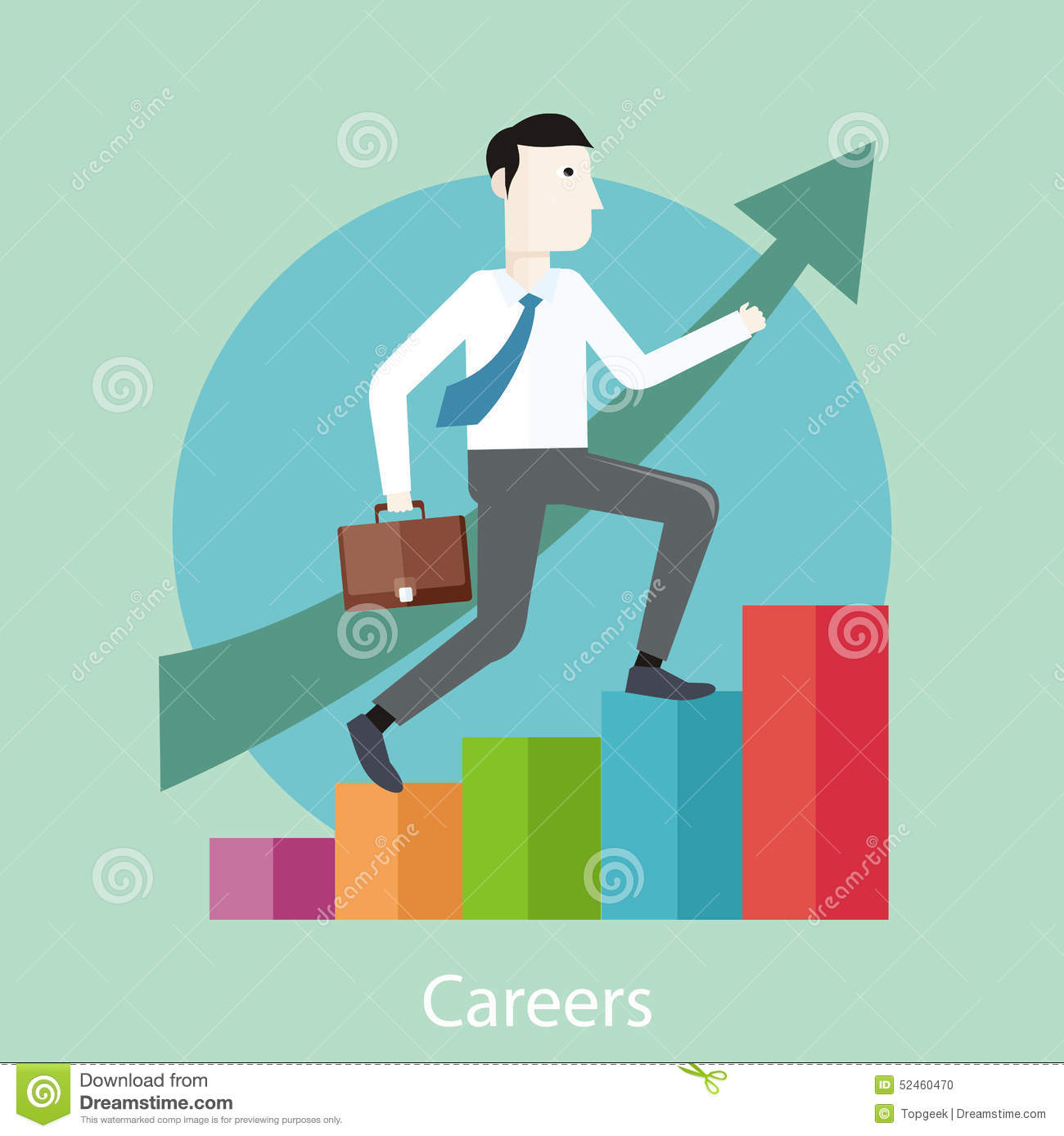 Character Design Career Path : Career concept in flat design style stock vector