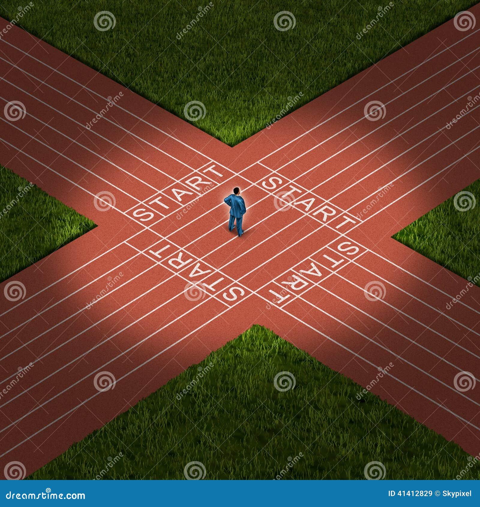 Career Decision Stock Illustration - Image: 41412829