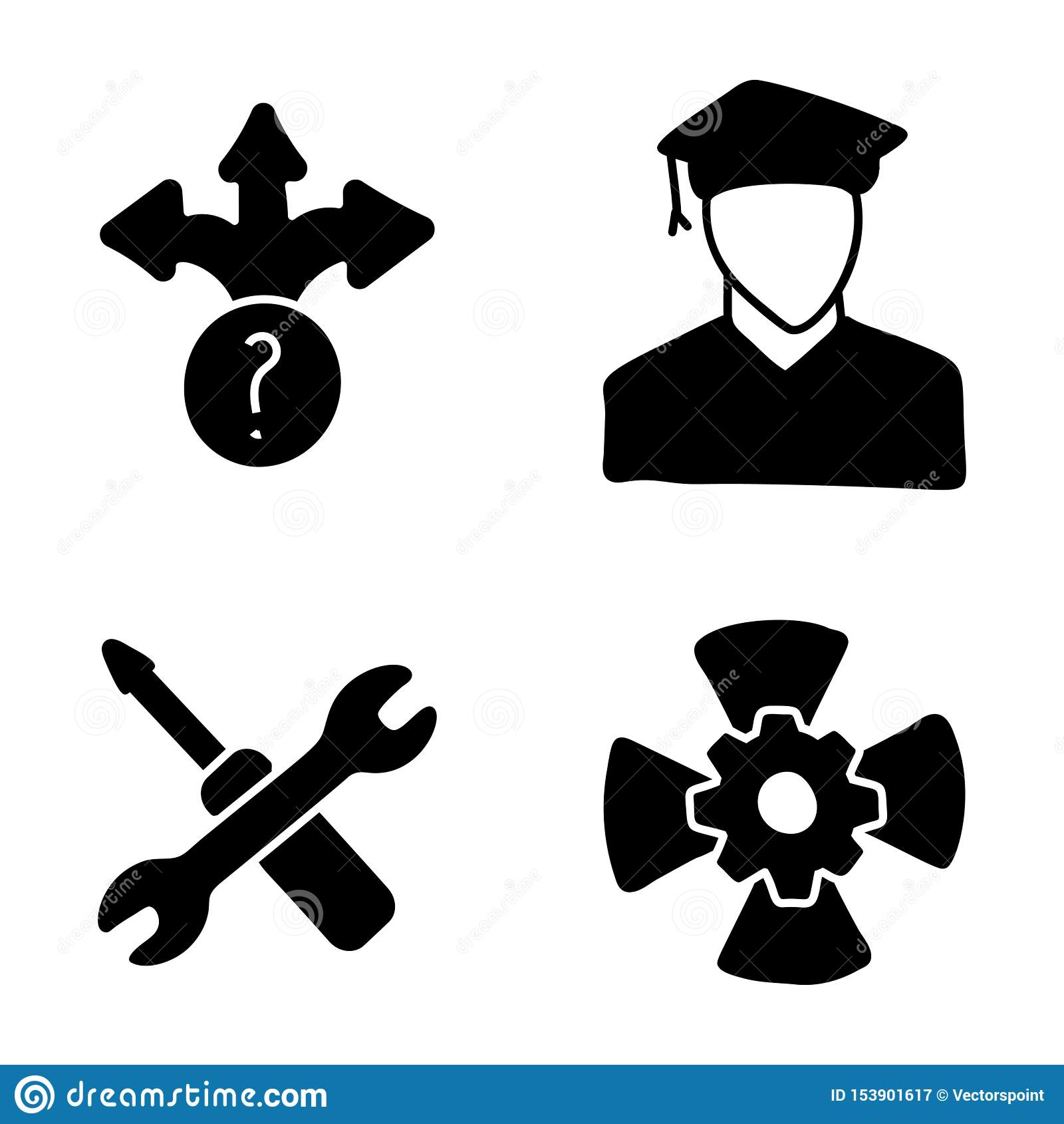 Career Glyph Icons