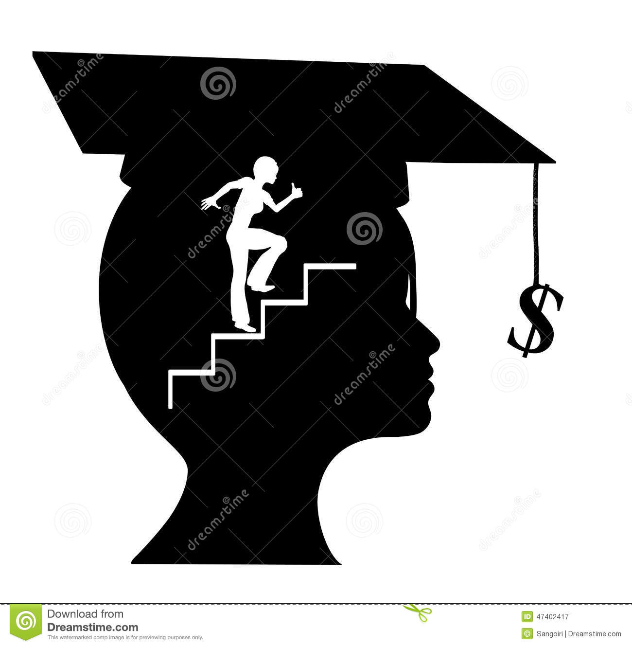 Career After Graduation Stock Illustration - Image: 47402417