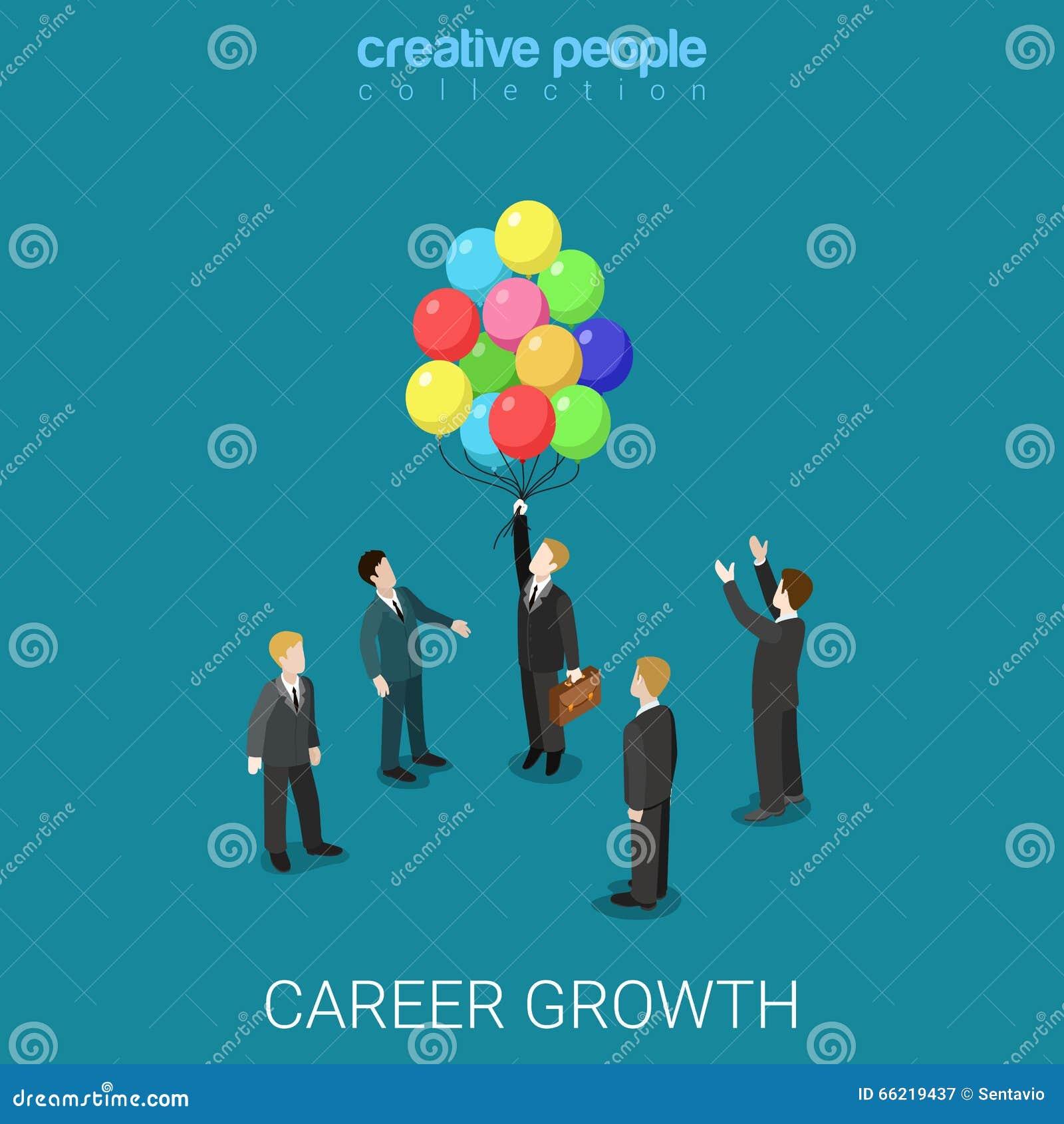 Career Growth Job Change Headhunting Flat Isometric Vector 3d ...