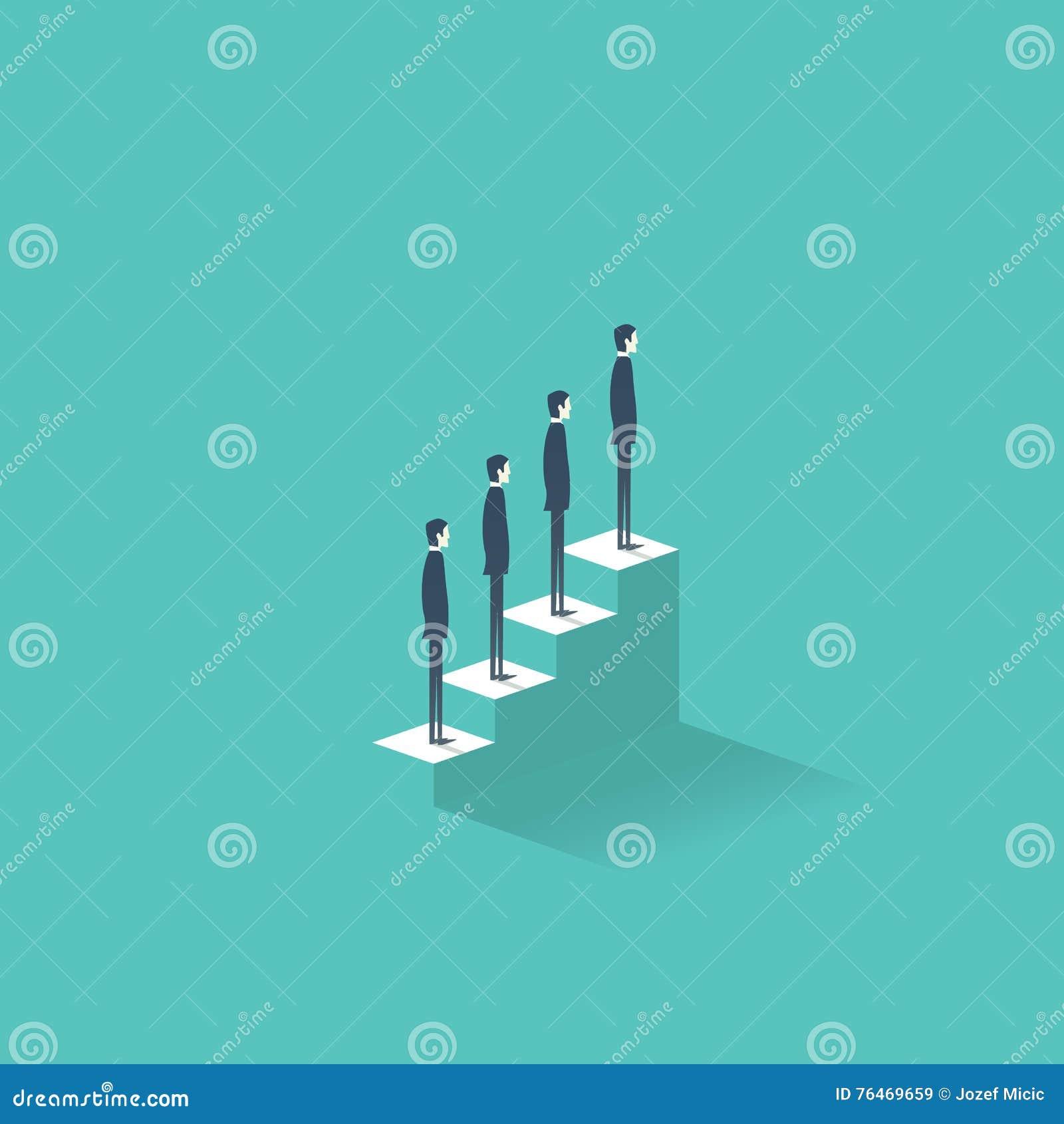 career growth vector illustration concept business people career growth vector illustration concept business people standing on stairs to the top job