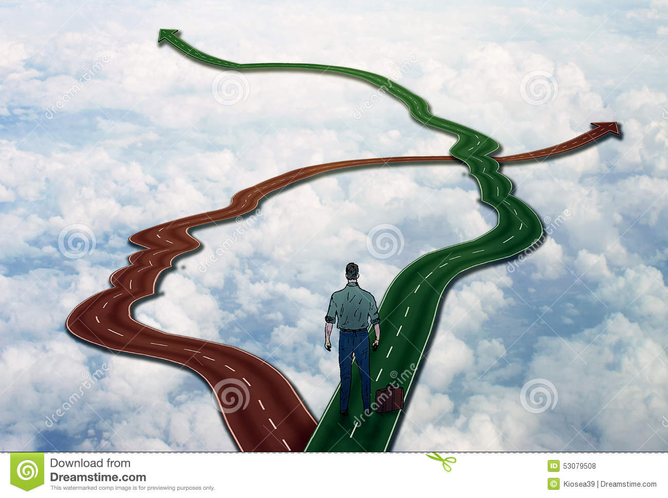 career life choice concept man on crossroads stock photo image career life choice concept man on crossroads