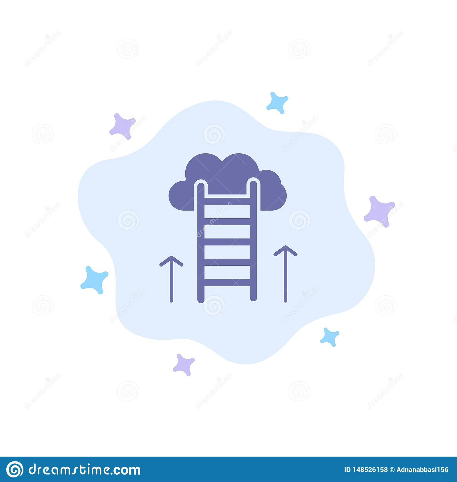 Career Path, Career, Dream, Success, Focus Blue Icon on Abstract Cloud Background