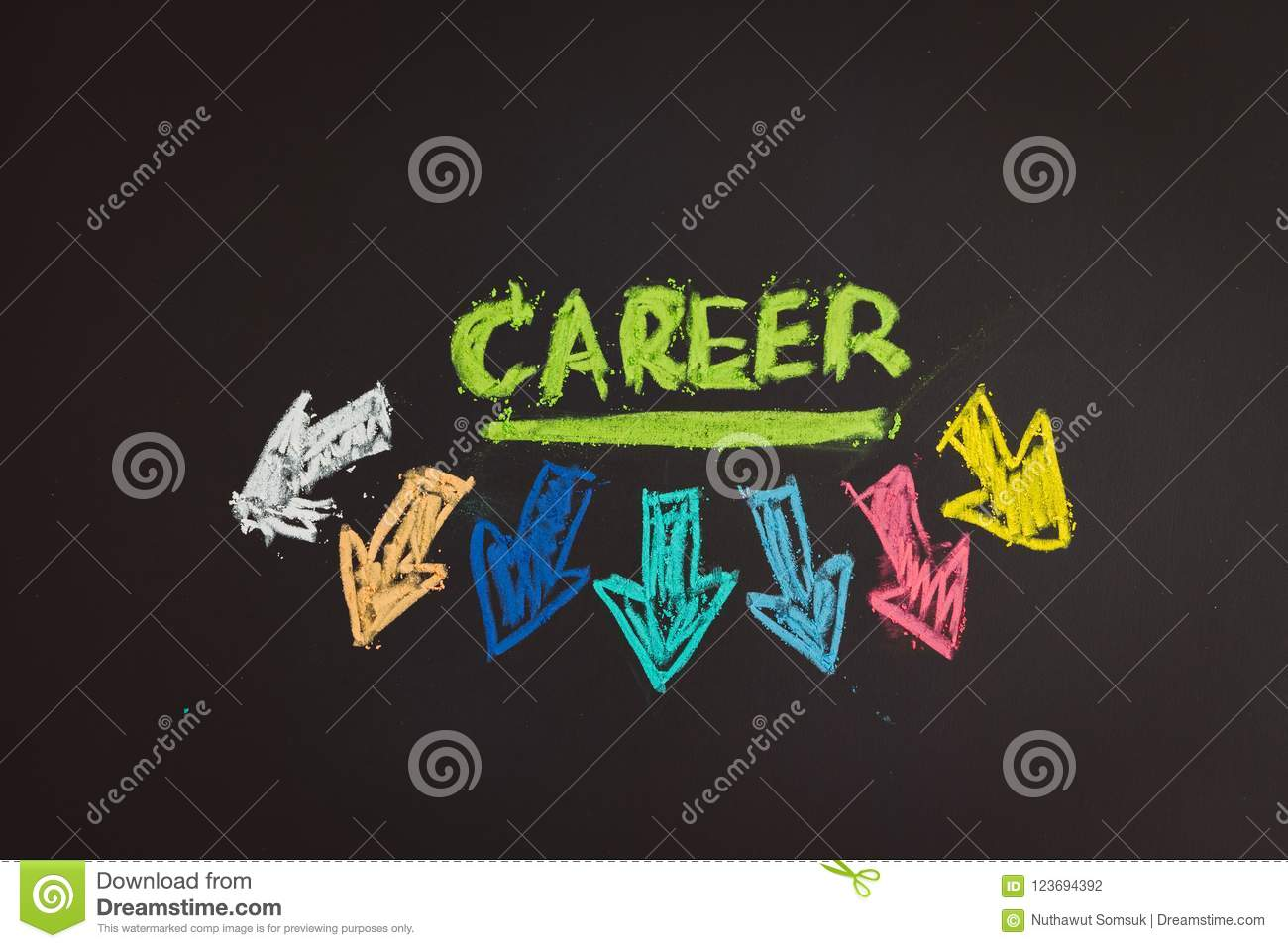Career Path And Work Opportunities Concept, Colorful