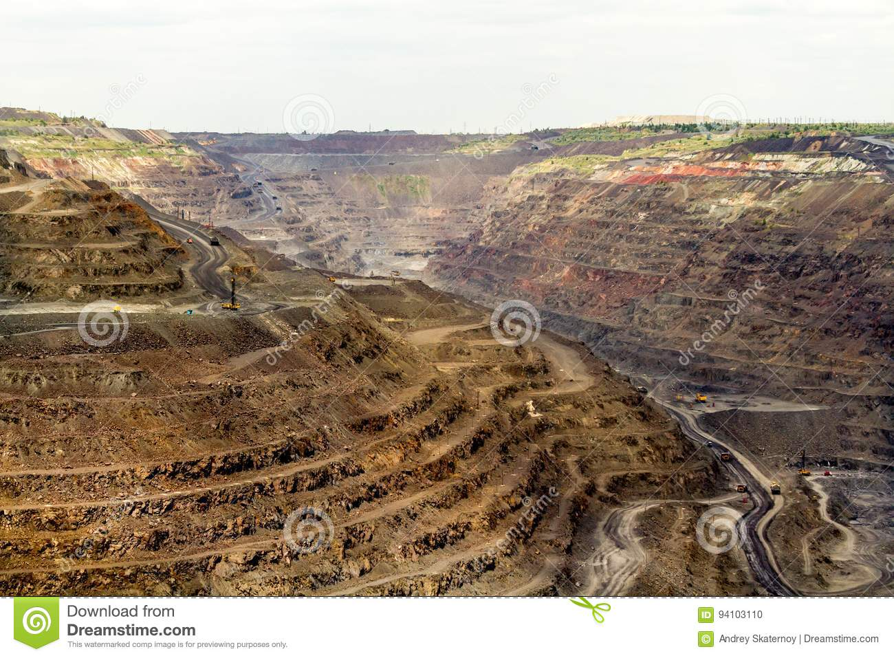 Career Of Poltava Mining And Processing Plant Stock Photo